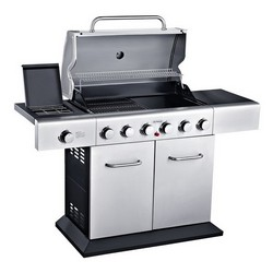 Outback Meteor 6 Stainless Steel Gas Hooded BBQ 370701