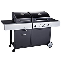 Outback Combi 4 Burner Gas and Charcoal Hooded BBQ 370526