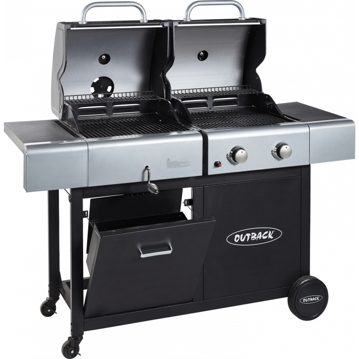 Outback Dual Fuel Charcoal/Gas 2 burner bbq 370705
