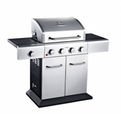 Outback Meteor 4 Stainless Steel Gas Hooded BBQ 370523