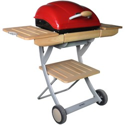 Outback Omega 200 Charcoal Hooded BBQ Red 370513