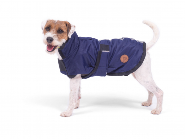 PETFACE 14059 WATER RESISTANT DOG COAT NAVY 35CM