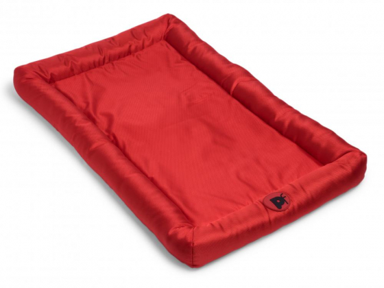 PETFACE DOG BED WATER RESISTANT MEMORY FOAM BOLSTER MAT RED LARGE - 16137