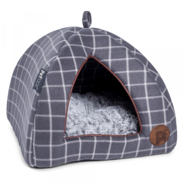 Petface 40023 Grey CAT Window Pane Check Igloo