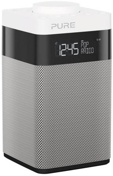 Pure Pop Midi DAB Portable Radio - Black/White/Silver