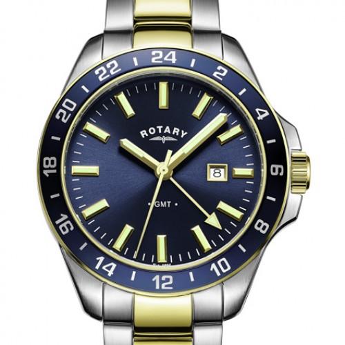 Rotary GB05082/05 Havana GMT Two Tone Bracelet Watch