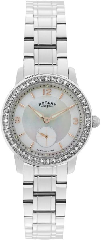 Rotary Ladies Timepieces Cambridge Silver Steel Watch  LB02700-41