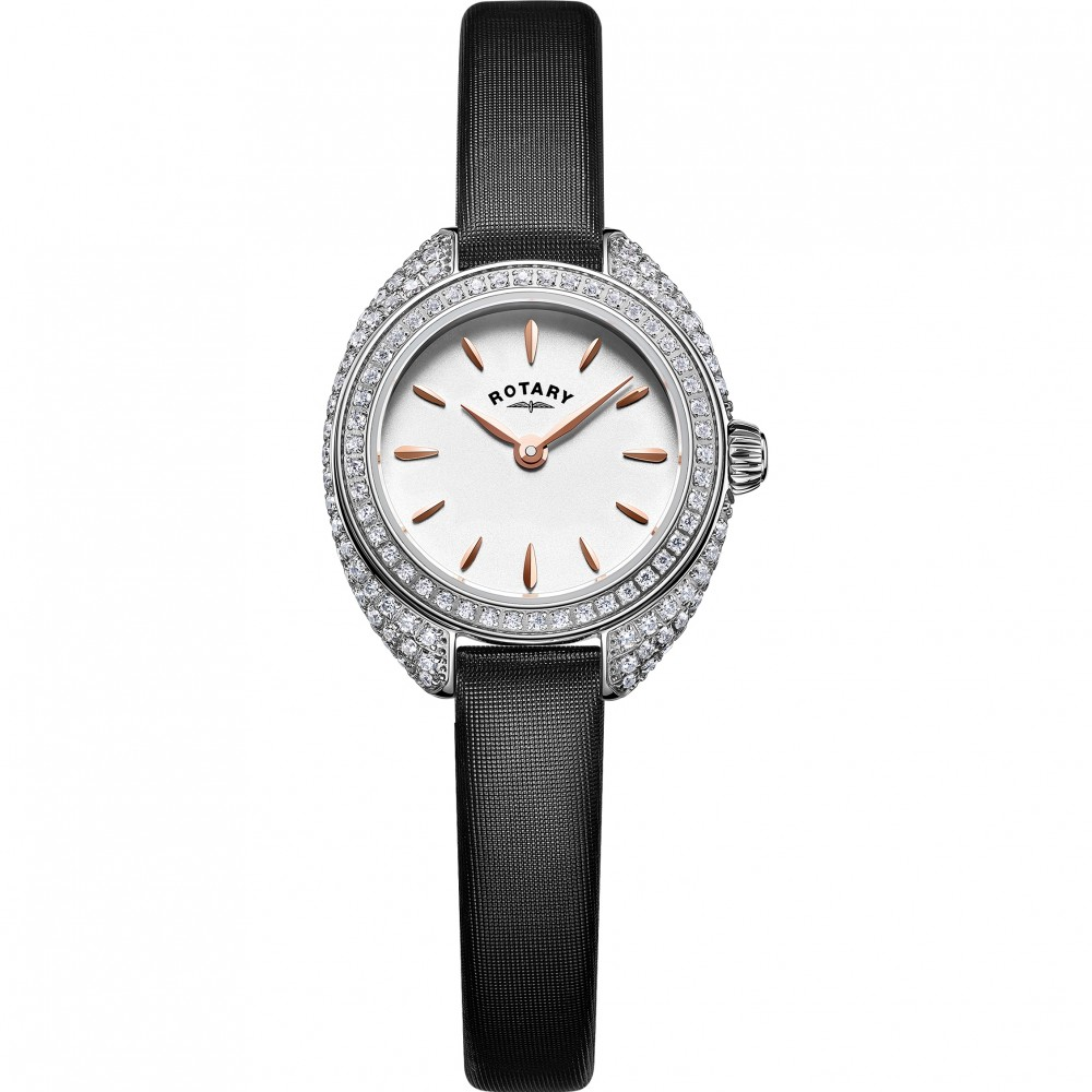 ROTARY Ladies Stone Set Petite Strap Watch LS05087/02