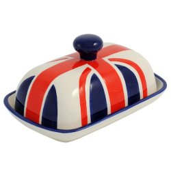 Union Jack Butter Dish